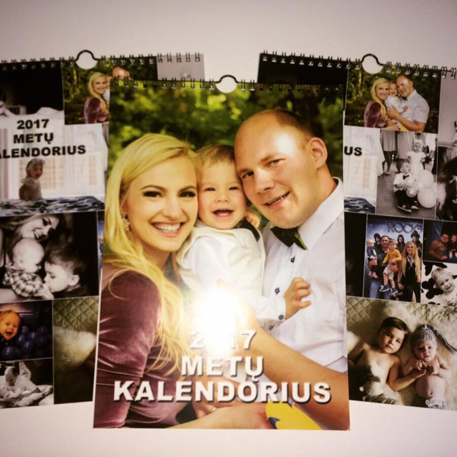 A4 kalendorius su Jūsų nuotraukomis