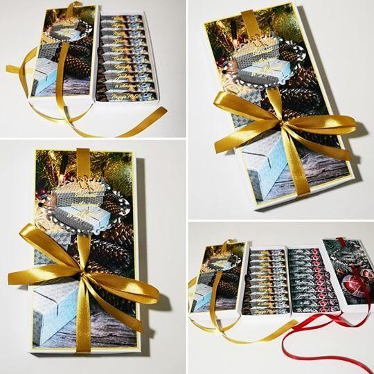 Kalėdinis sveikinimas dekoruotoje dėželėje -2
