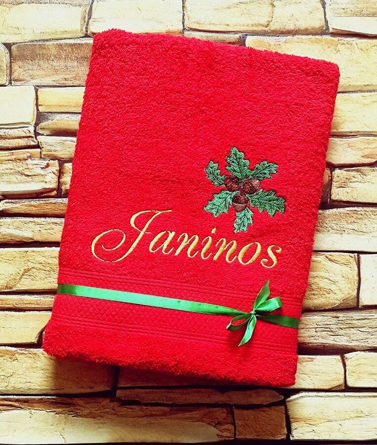 Siuvinėtas rankšluostis Janinos