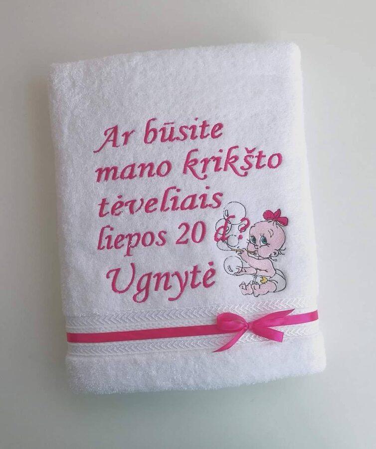 Siuvinėtas rankšluostis - Ar būsite...?