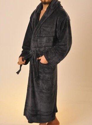 Siuvinėtas bambuko pluošto chalatas Namų Karalius GALIMAS SPALVŲ PASIRINKIMAS