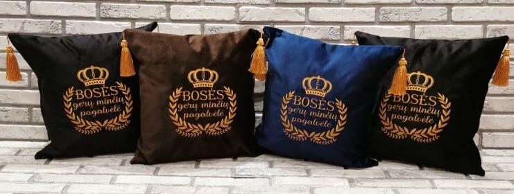 Bosės gerų minčių pagalvėlė (ruda arba mėlyna)