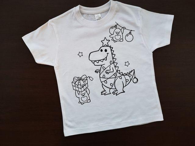 Spalvinimo marškinėliai su nuplaunamais flomasteriais Nr.2