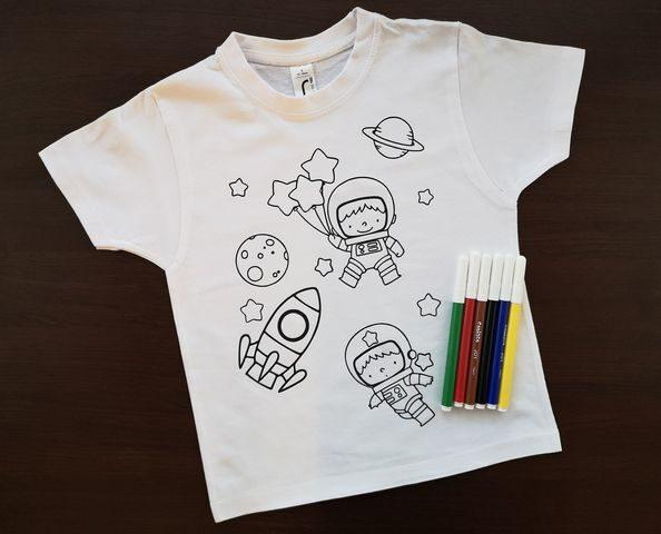Spalvinimo marškinėliai su nuplaunamais flomasteriais Nr.3