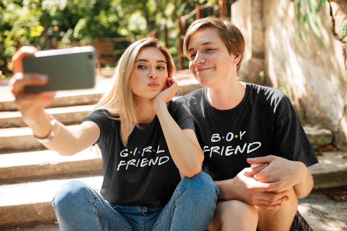 Marškinėliai PORAI - Boyfriend & Girlfriend