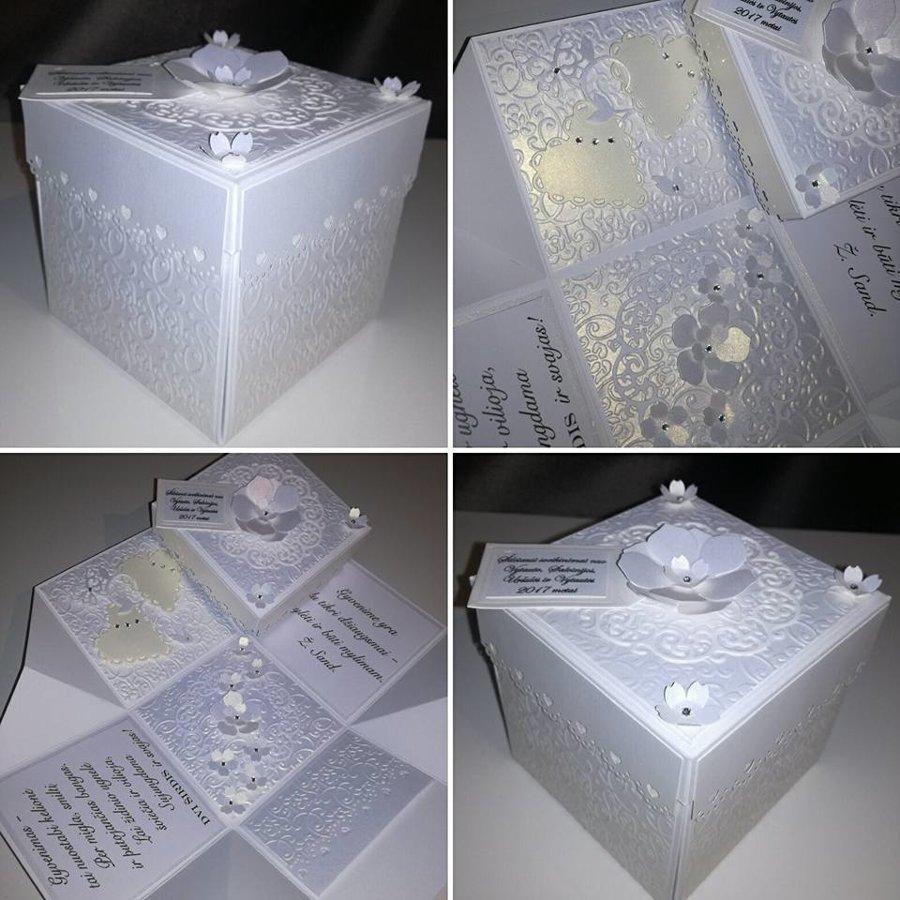 Vestuvių dėžutė atvirutė - pinigų vokelis Nr. 3