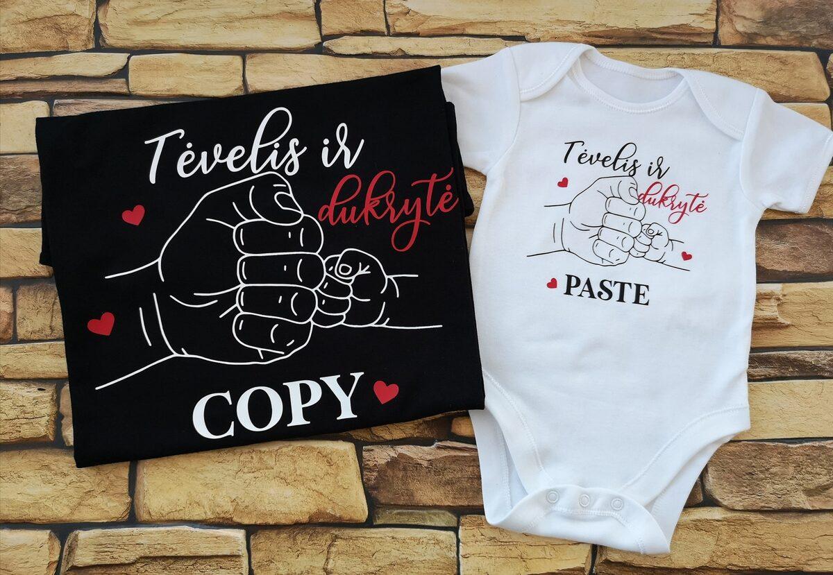 Smėlinukas ir/ arba marškinėliai Tėvelis ir dukrytė