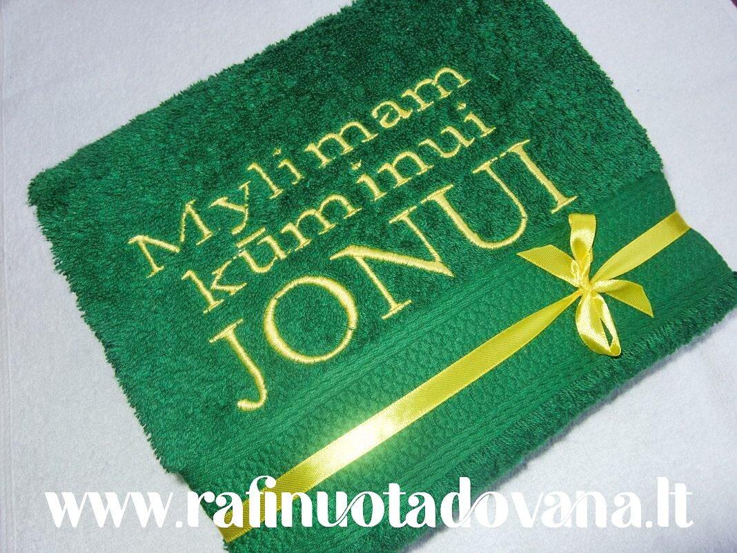 Siuvinėtas rankšluostis Jonui