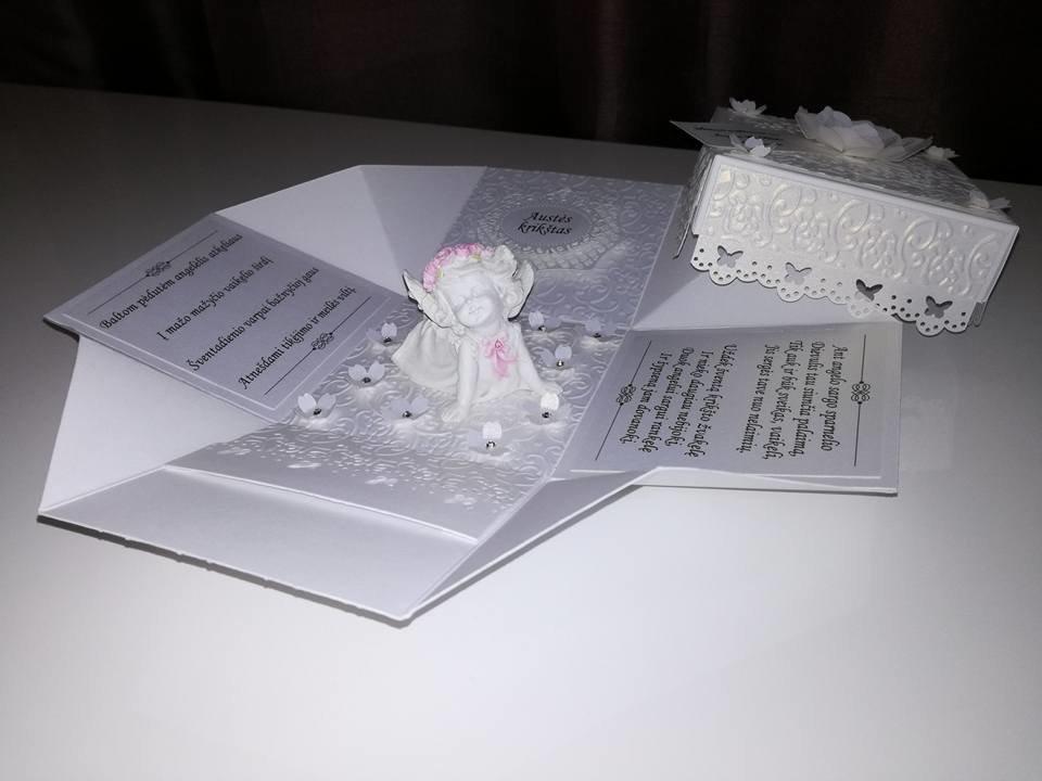 Krikštynų dėžutė atvirutė - pinigų vokelis Nr. 5