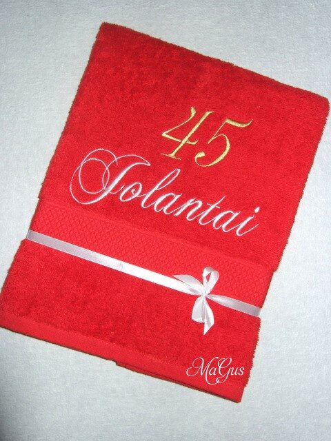 Siuvinėtas rankšluostis Jolantai 45