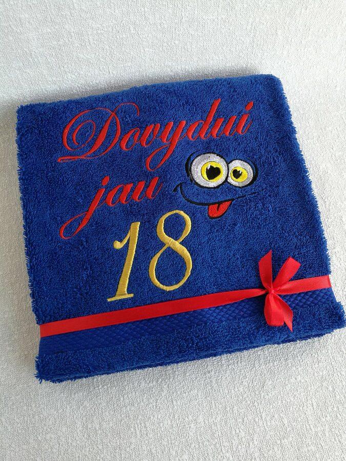 Siuvinėtas rankšluostis Dovydui jau 18