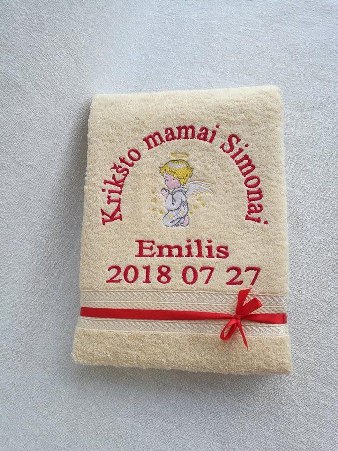 Siuvinėtas rankšluostis (Emilis)