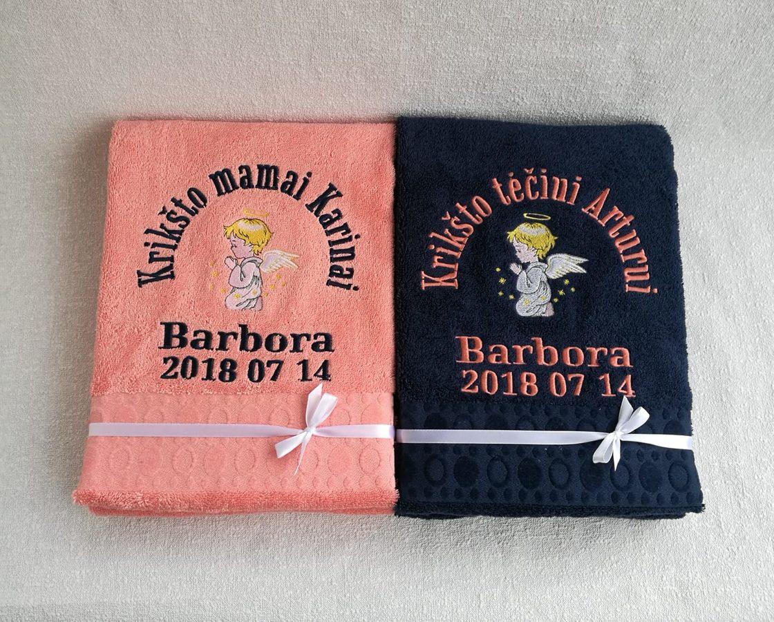 Siuvinėtas rankšluostis (Barbora)