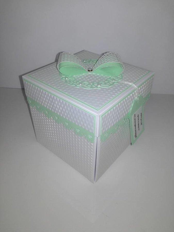 Krikštynų dėžutė atvirutė - pinigų vokelis Nr. 3