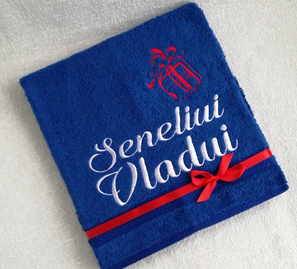 Siuvinėtas Kalėdinis rankšluostis Seneliui Vladui