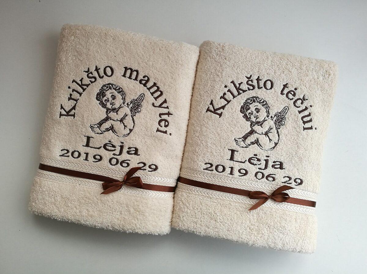 Siuvinėti rankšluosčiai (Lėja)