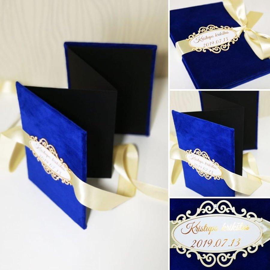 Nuotraukų albumas - armonikėlė (mėlynas)