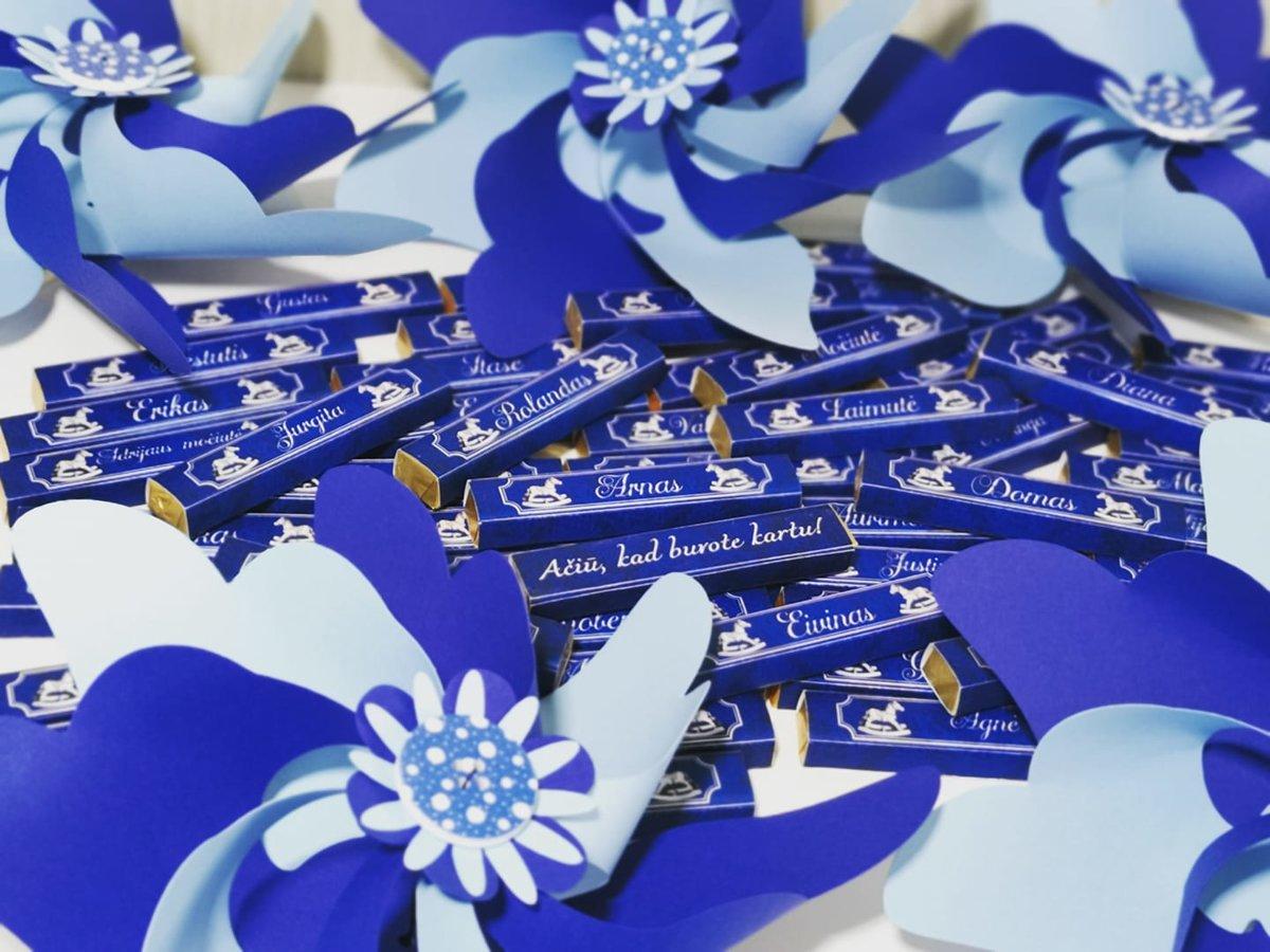 Vėjo malūnėliai (šviesiai mėlyna su tamsiai mėlyna)