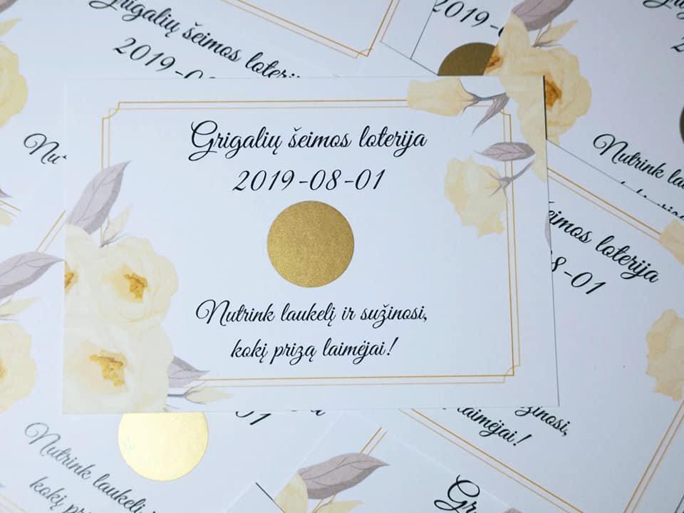 Vestuvių loterija GĖLĖS