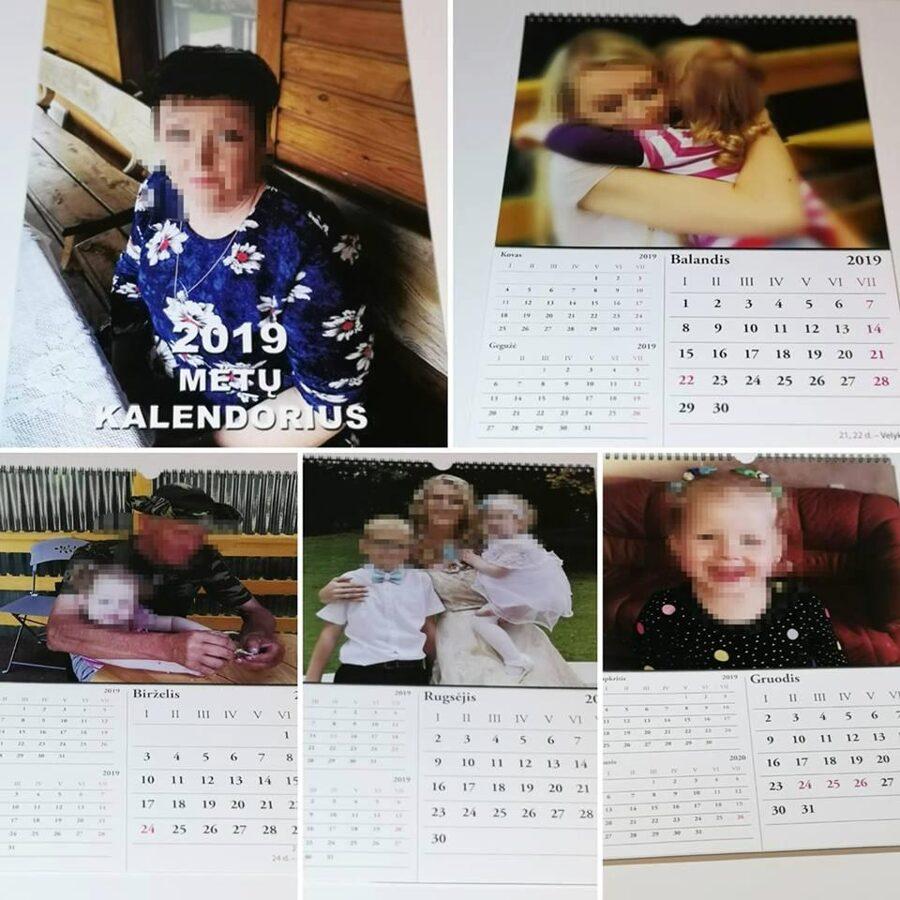 A3 kalendorius su Jūsų nuotraukomis