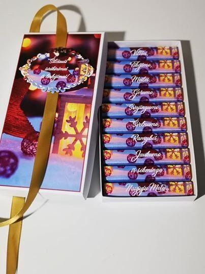Kalėdinis sveikinimas dekoruotoje dėželėje - 3