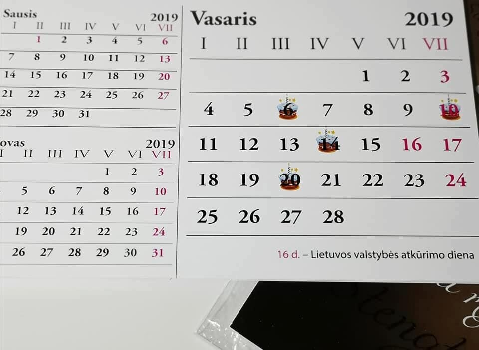 A5 kalendorius su Jūsų nuotraukomis