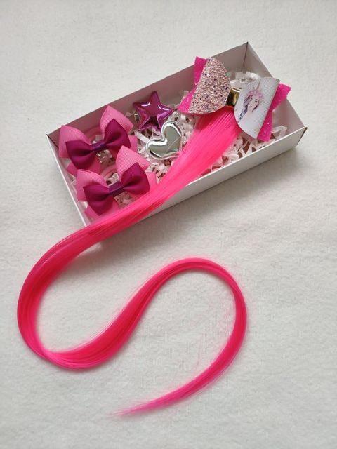 Aksesuarai plaukams - rožinė sruoga