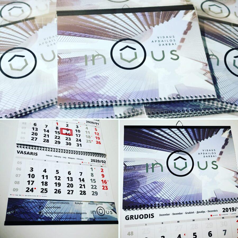 Trijų dalių pakabinamas kalendorius