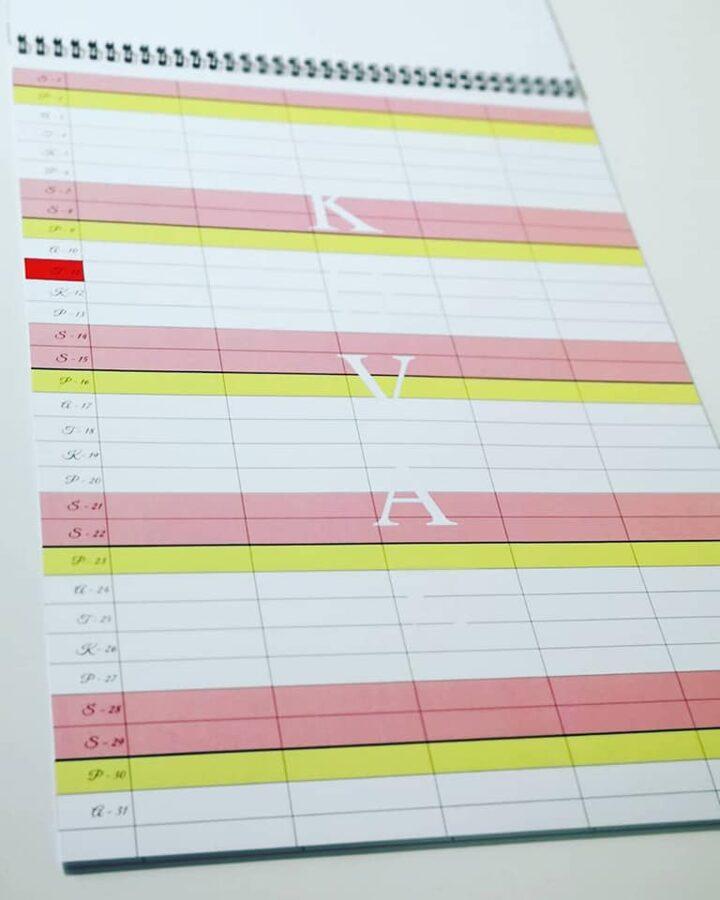 Kalendorius - planuoklis
