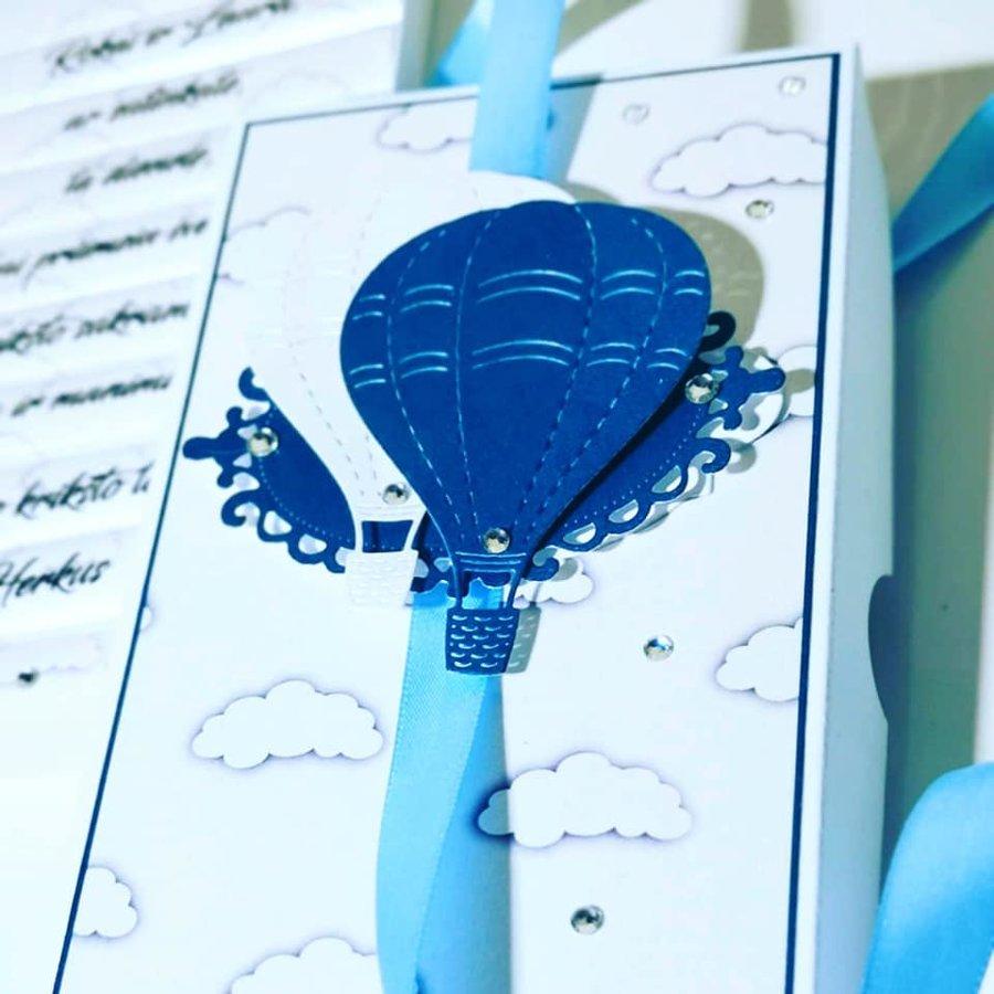 """Kvietimas arba padėka krikštatėviams """"Oro balionai"""""""