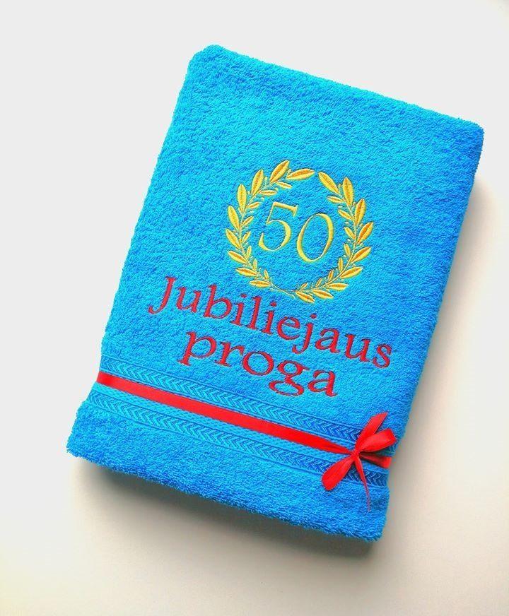 Siuvinėtas rankšluostis Jubiliejaus proga Nr. 2