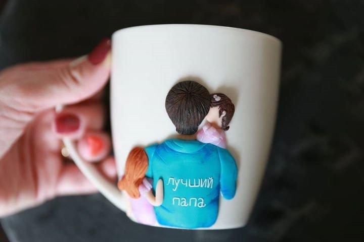 Dekoruotas puodelis Geriausias tėtis
