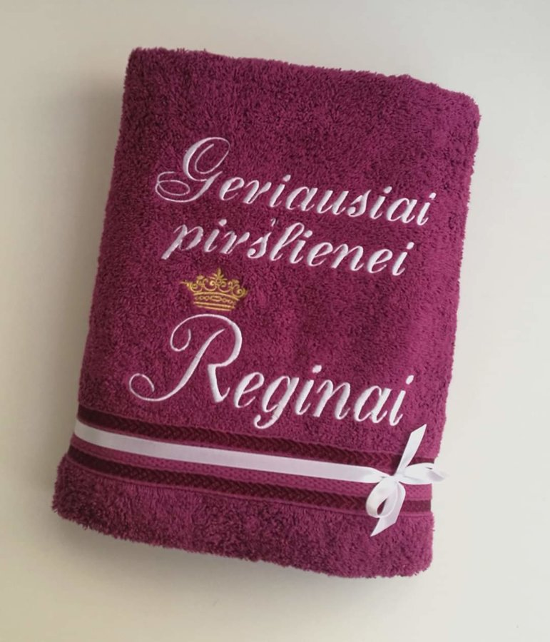 Siuvinėtas rankšluostis Piršlienei