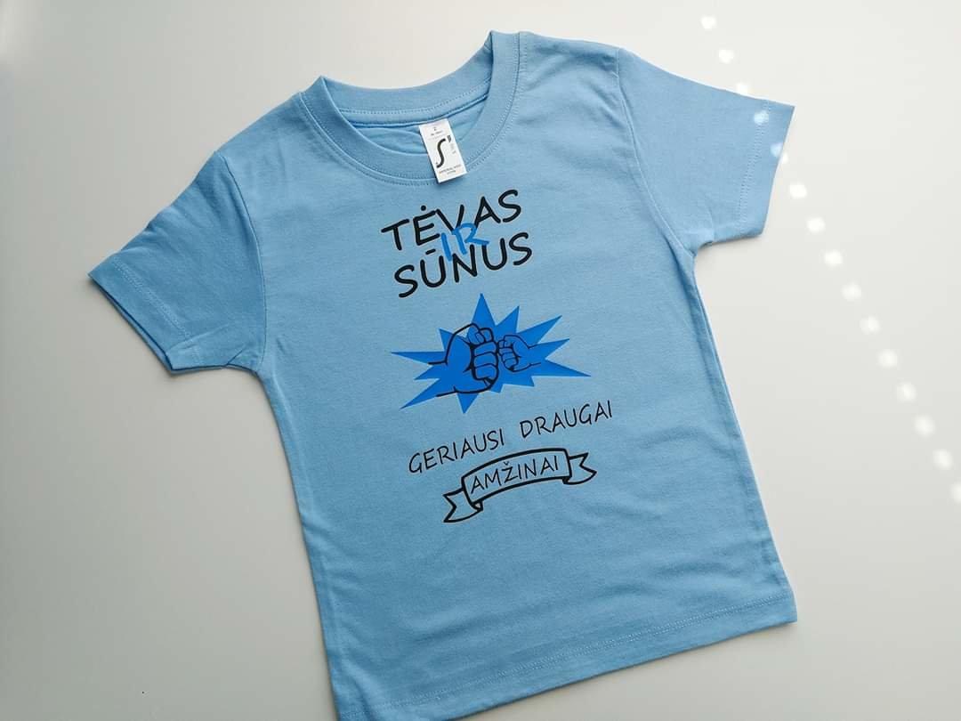 Marškinėliai Tėvas ir sūnus geriausi draugai amžinai (vaikiški)