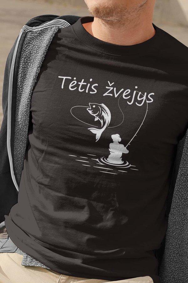 Marškinėliai Tėtis žvejys