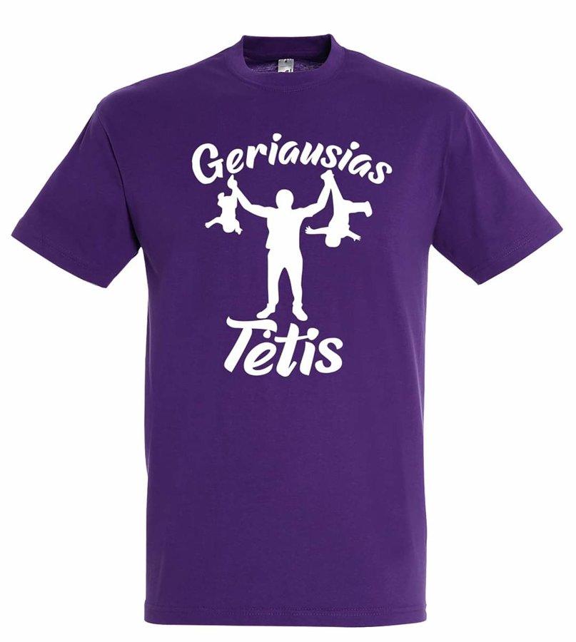 Marškinėliai Geriausias Tėtis (violetiniai)