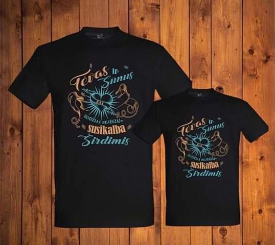 Marškinėliai Tėvas ir sūnus (vyriški juodi)