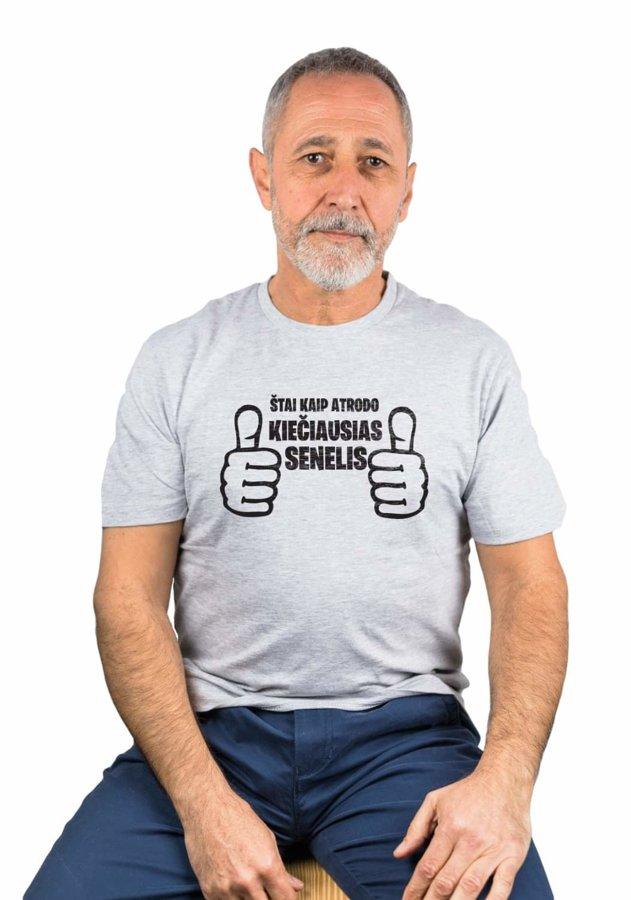 Marškinėliai Kiečiausias Senelis