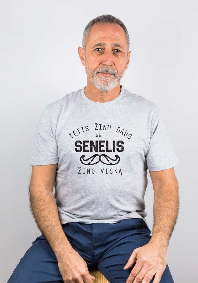 Marškinėliai Senelis žino viską