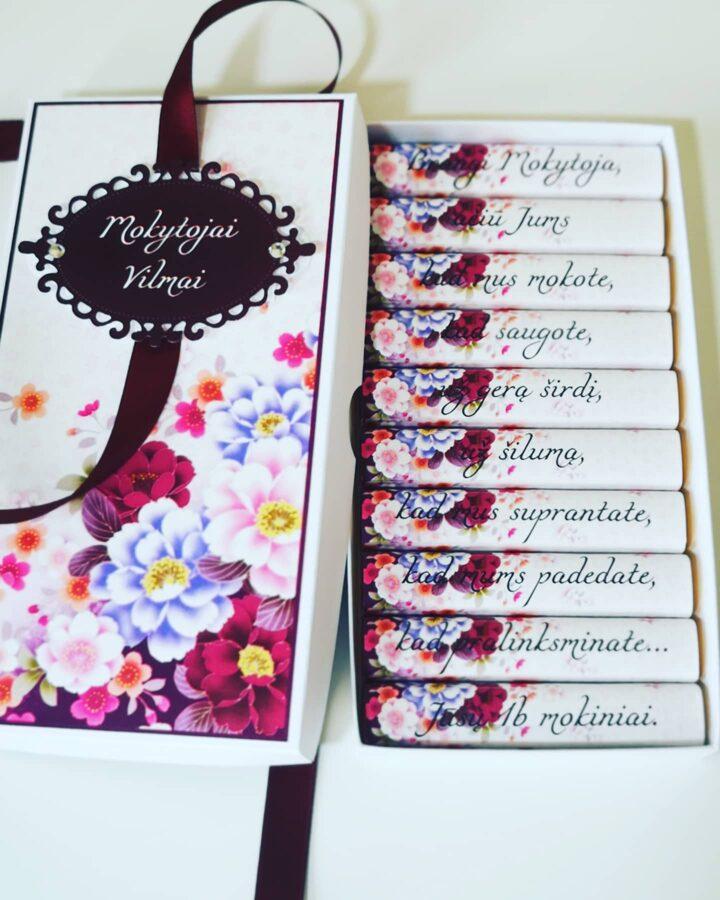 Saldus sveikinimas - padėka Mokytojai (Gėlės)