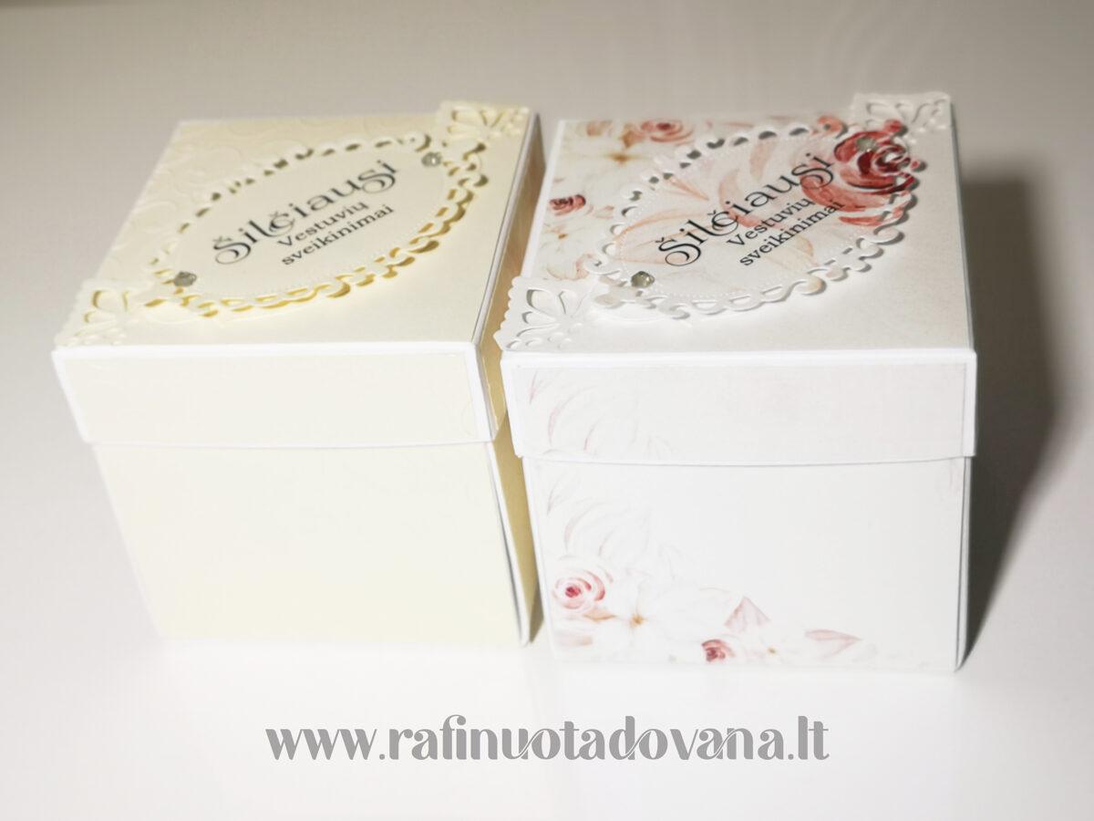 Dėžutė - atvirutė (Šampaninė)