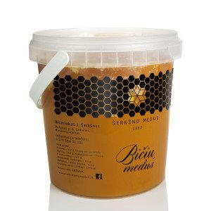 Grikių medus, 1 kg. (plastikinė pakuotė)