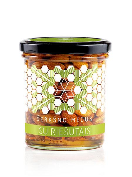 Medus su riešutais, 400 g