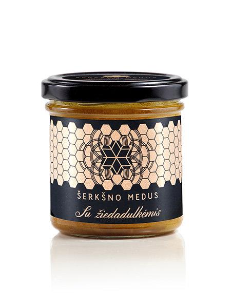 Medus su žiedadulkėmis, 200 g