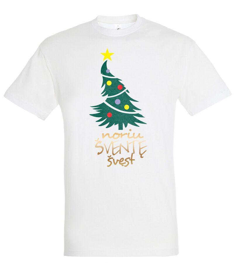 Marškinėliai - Noriu šventę švęst (vyriški)