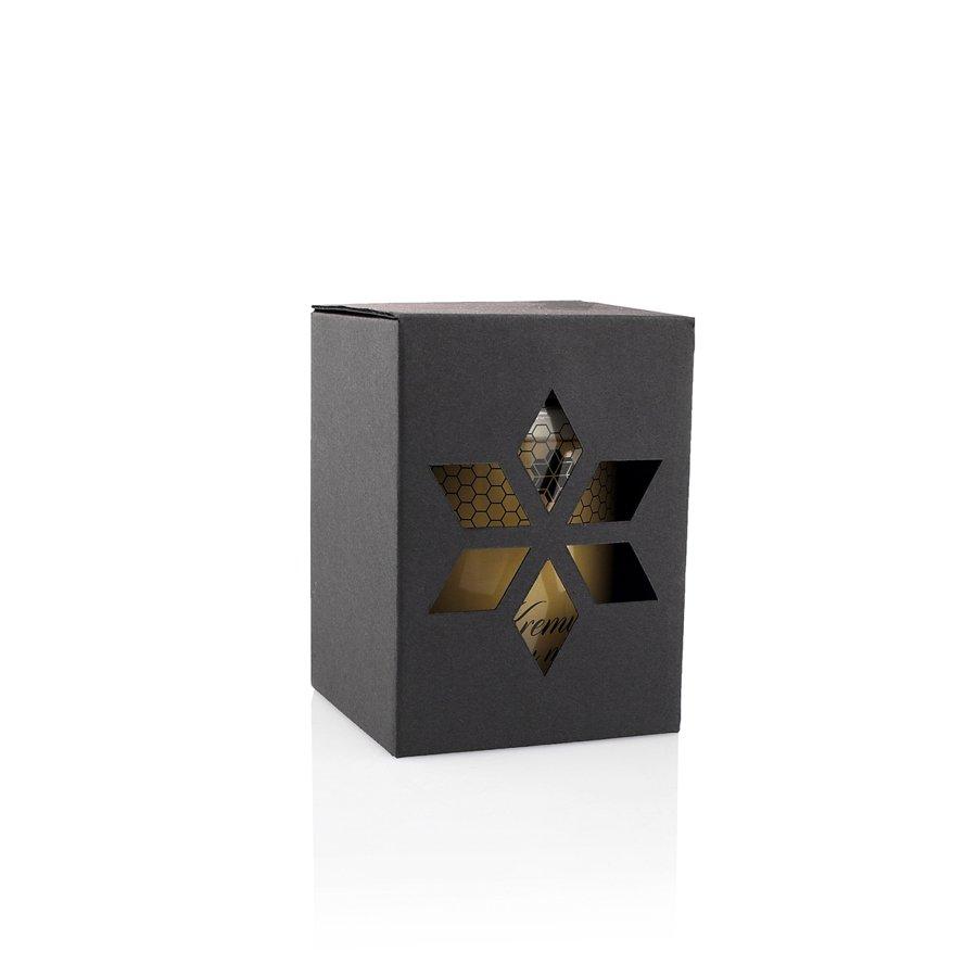 Juodo kartono dovanų dėžutė (0,450 kg/0,500 kg medaus)