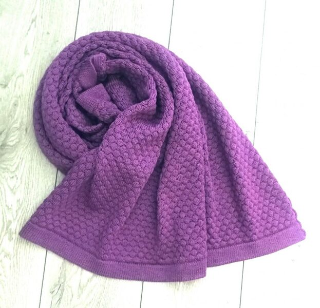 Merino vilnelės pledukas - Violetinis