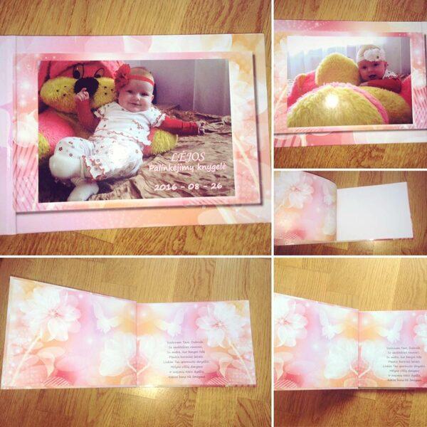 Krikštynų knyga su spaudos viršeliu mergaitei