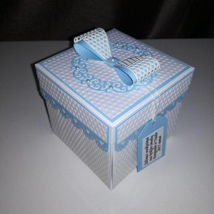 Krikštynų dėžutė atvirutė - pinigų vokelis Nr. 2