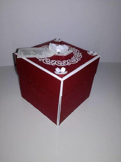 Vestuvių dėžutė BURGUNDINĖ